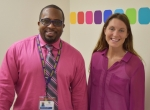 Randall Leonard LCSW-C and Lauren Vaszil LCPC, LCADC, facilitators of the new Intimate Partner Violence support group at The LGBT Health Resource Center.
