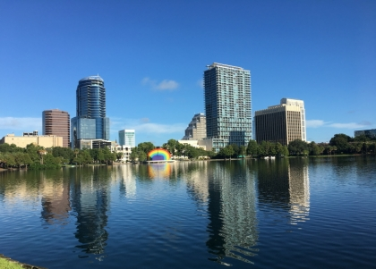 Downtown Orlando– A consoling rainbow