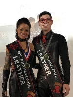 Beyond brotherly love– Heather Raquel and Nicholas Hollup donning their sashes