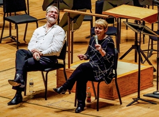 BSO Maestro Marin Alsop (right) plumbs the mysteries of Mozart