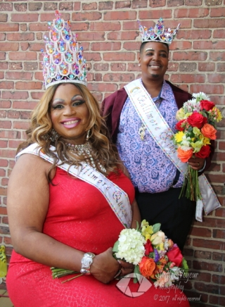 Queen Bleu and King Jay- monarchs of Pride 2018
