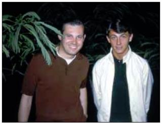 Host Bradley Grant (left) and Gary Elingsont